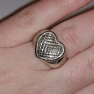 Sterling silver heart ring size 7